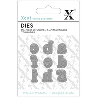 Xcut Mini Decorative Die Serif Alpha #1 9pk