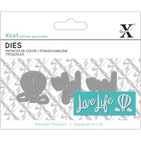 Xcut Mini Decorative Die Live Life Sentiment 3pk