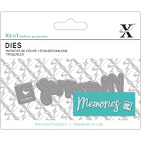 Xcut Mini Decorative Die Memories Sentiment 2pk