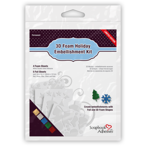Scrapbook Adhesives 3D Foam Holiday Embellishment Kit