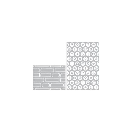 Project Life Embossing Folder A2/3x4 2pk High Five Edition