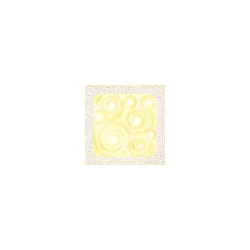 Print Blocks Paper Iron Lace Border With Yellow Swirl