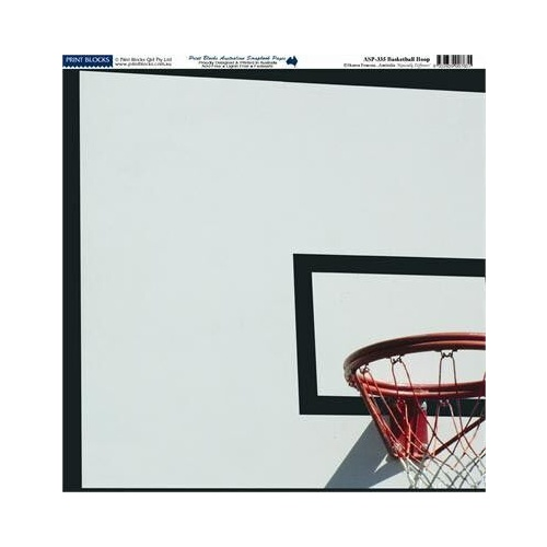 Print Blocks Paper Basketball Hoop