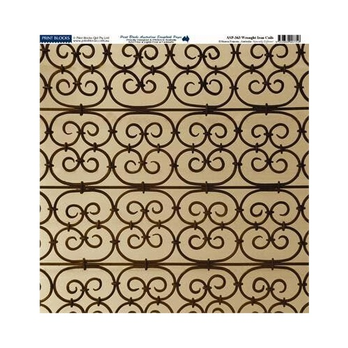 Print Blocks Paper Wrought Iron Coils
