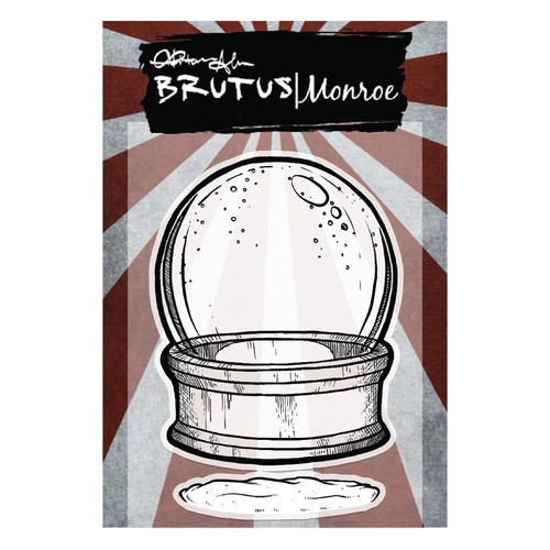 "Brutus Monroe Clear Stamp 3x4"" Snowglobe - Empty"
