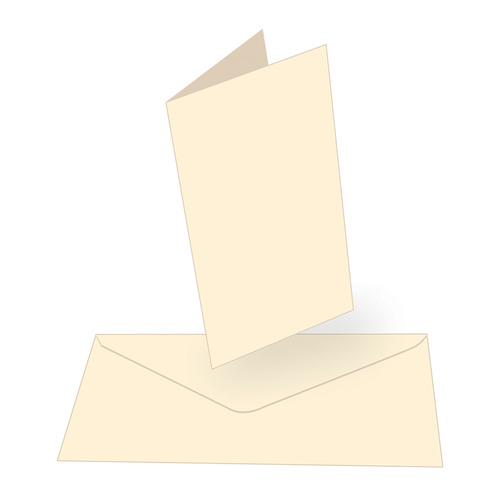 Couture Creations Tall Card & Envelopes Cream 50pk