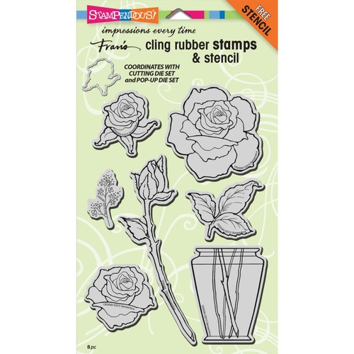 Stampendous Cling Stamps Rose Bouquet