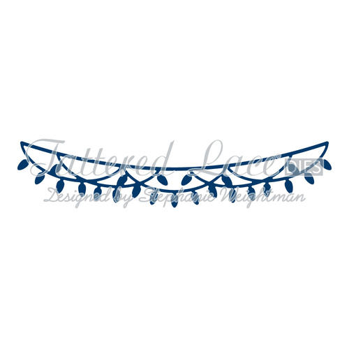 Tattered Lace Die Christmas Lights Washing Line