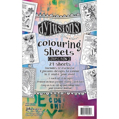 Dylusions Colouring Sheets #2 24pc by Dyan Reaveley
