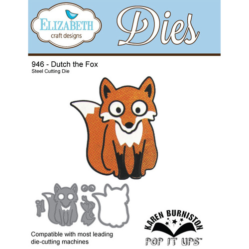 Elizabeth Craft Designs Die Dutch the Fox by Karen Burniston Characters