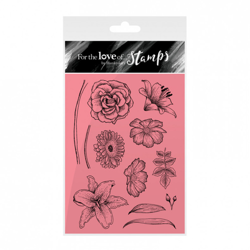 Hunkydory Stamp A6 For the Love of Floral Sketches