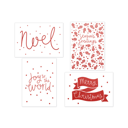 Kaisercraft Kaiserstyle Christmas Card & Envelope Pack Merry Christmas