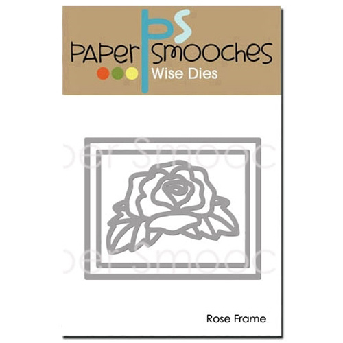 Paper Smooches Die Rose Frame