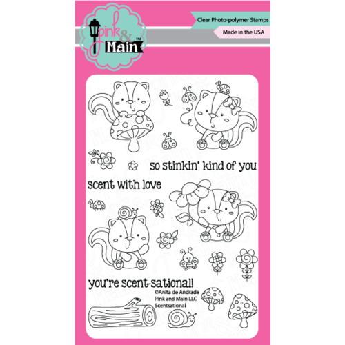"Pink & Main Stamp Set 4x6"" Scentsational"