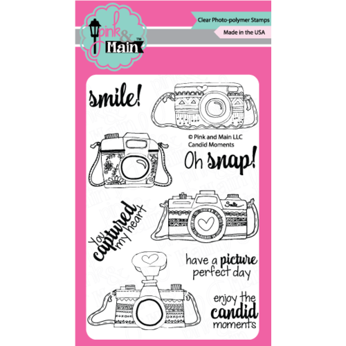 "Pink & Main Stamp Set 4x6"" Candid Moments"