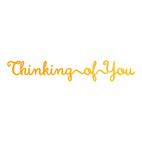 Ultimate Crafts Hotfoil Stamp Classic Sentiments Thinking of You