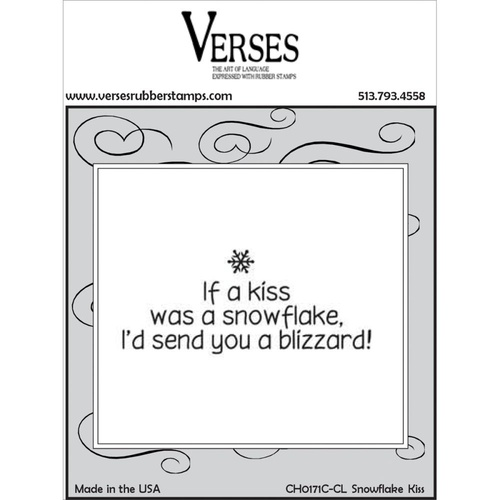 Verses Cling Rubber Stamp Snowflake Kisses
