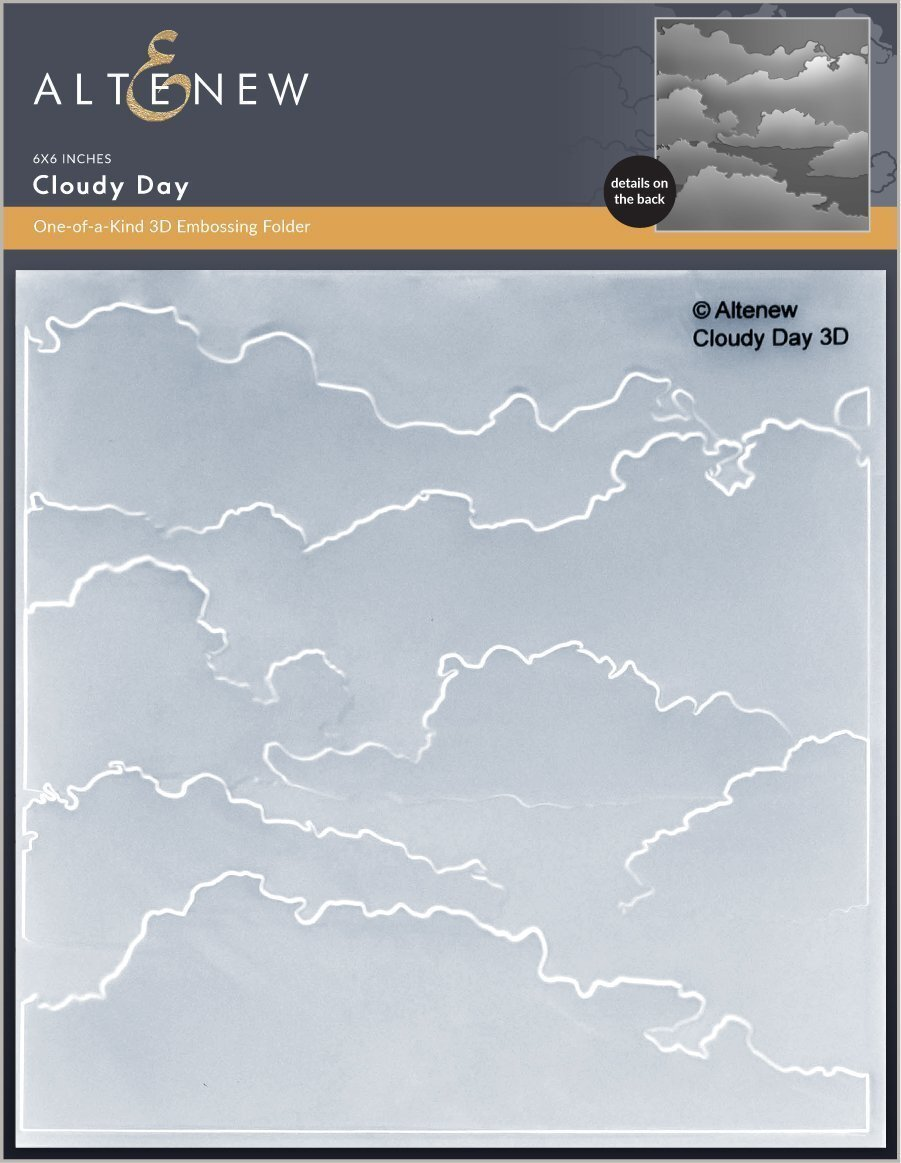 Altenew Cloudy Day 3D Embossing Folder