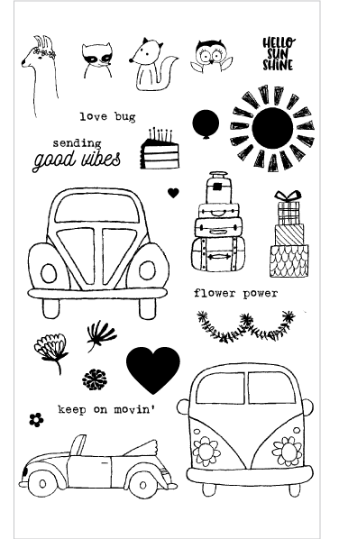 flora  u0026 fauna clear stamp love bug