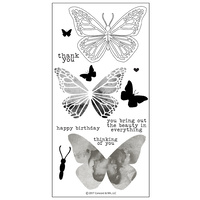 "Concord & 9th Clear Stamp Set 4x8"" Butterfly"