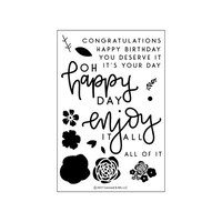 "Concord & 9th Clear Stamp Set 4x6"" Enjoy it All"