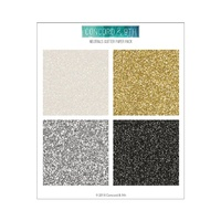 "Concord & 9th 6x6"" Neutrals Glitter Paper Pack"