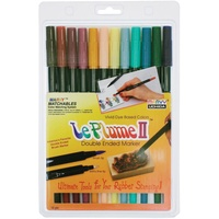 Marvy Le Plume ii Double Ended Markers Victorian Set 12pk