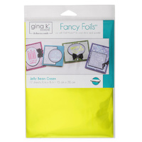 "Thermoweb Fancy Foils 6x8"" Jelly Bean Green 12pk by Gina K Designs"