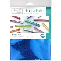 "Thermoweb Fancy Foil 6x8"" Brilliant Blue Holographic 12pk by Gina K Designs"