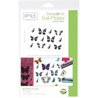 Thermoweb Foil-Mates StampnFoil Detail Sheets Butterfly Kisses 10pk by GinaK