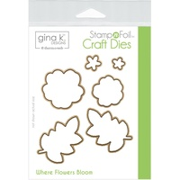 Thermoweb Foil-Mates Die Where Flowers Bloom 4pk by Gina K