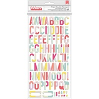 American Crafts Thickers Alpha Stickers Carefree Chipboard by Pink Paislee