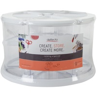 Deflecto Craft Storage Rotating Organiser with Cannisters
