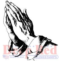 Deep Red Stamp Praying Hands