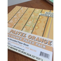 Crafty Bitz Designer Paper Pack Pastel Orange 30pk