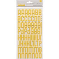 American Crafts Thickers Alpha Stickers Shoreline Glitter Foam Boardwalk Honeycomb