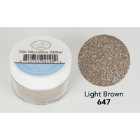 Elizabeth Craft Designs Silk Microfine Glitter 8gm Light Brown