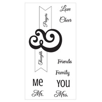 Sizzix Clear Stamp Interchangeable Me & You by Jen Long