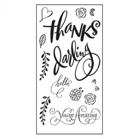 Sizzix Clear Stamp Hello Darling by Brenda Walton