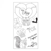 Sizzix Clear Stamp Interchangeable Fox Tales