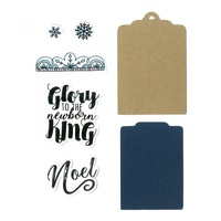 Sizzix Framelits Die & Stamp Set Glory to the King by Katelyn Lizardi