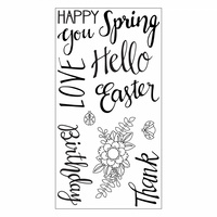 Sizzix Clear Stamp Spring Phrases