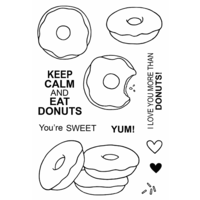 Jane's Doodles Clear Stamp Donuts