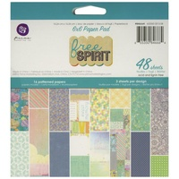 "Prima 6x6"" Single Sided Paper Pad Free Spirit 48pg"
