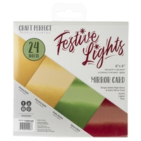 "Craft Perfect Mirror Cardstock 6"" Pad Festive Lights"