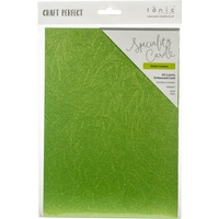 Tonic Studios Craft Perfect A4 Luxury Embossed Cardstock Green Leaves