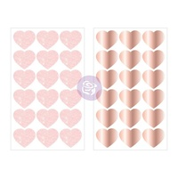 Prima Love Story Heart Stickers 4pk