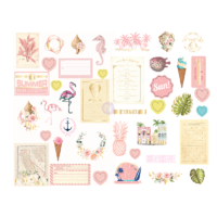 Prima Golden Coast Chipboard Stickers
