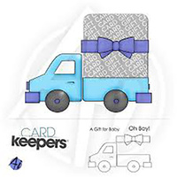 Art Impressions Card Keeper Stamp Toy Truck