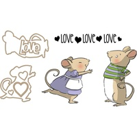 Art Impressions Cling Rubber Stamp & Die Set Sliders Mouse